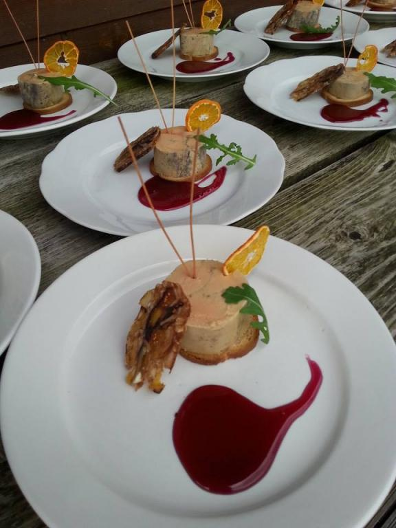 Foie gras et gelée de vin chaud
