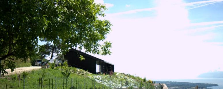 Une villa bien intégré dans le terrain